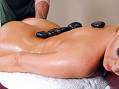 Bouncing Boobs, Brazzers Hot Stone Massage
