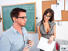 Bouncing Boobs, Diana Prince & Dane Cross as Sexy Teacher