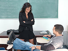Hard Nipples, Adriana Anelise as Sexy Teacher
