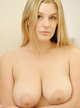 Busty Nude, Danielle strips down and showers her pussy and titties