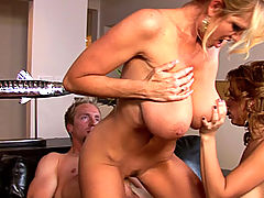 nice boobs, Sienna takes a huge load after her and Kelly get aggressive with cock and get it to hit every pleasure point on their bodies.