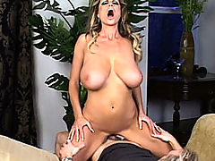 Busty Girls Movies, Kelly gets her tits and pussy pounded on a chaise lounge.