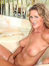 Nipples Pics: Seductive Anilos Jade gets wet in the tub and fondles her pink juice box
