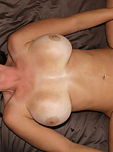 nice tities, Kelly Madison and Ryan fuck Lucky Benton while she's doing the splits.