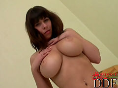 Bigtit Videos, Hot young busty babe Alicia getting totally naked