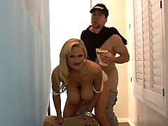 nice breasts, Kelly does a Studway commercial and gets busted for fooling around with the sandwich boy on set.