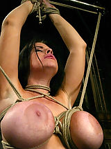 Fetish Pics: Daphne's huge 36G breasts get tighly bound.