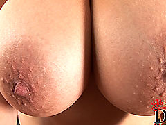 nice melons, Shione Cooper naked on pool table inserting ball