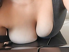nice jugs, Rikki busty girl got naked in the car