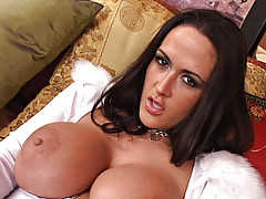 We had just one request for Carmella Bing - be as hot and sexy as you possibly can. Carmella not only honored that request but she exceeded it! Stripping off her fuzzy white attire and exposing her very large and very hot tits was the first order of...