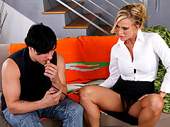 nice breasts, Amber Lynn & Anthony Rosano as Sexy Teacher