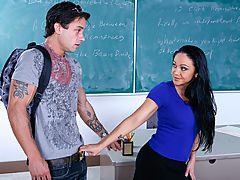 Bouncing Boobs, Cherokee & Alan Stafford as Sexy Teacher