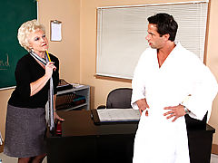 Bigtits Officesex, Mrs. Jewell & Alan Stafford as Sexy Teacher