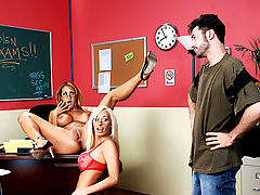 Bigtits Officesex, Trina Michaels, Lachelle Marie & James Deen as Sexy Teacher