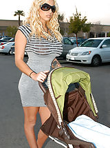 Busty Pictures, Kelly brings home Britney and Ryan doesn't know if to freak out or fuck, he figures it out and fucks them on the baby stroller.