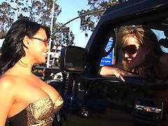 Busty Teen, Content of Eva Angelina - On my way to the local biker bar to meet up with my husband I came across one hot mama on the side of the road. I told her she would look even hotter sitting on the back of my man's bike. I called him up and she jumped on...