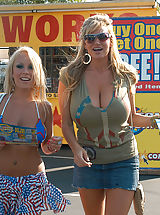 Bouncing Boobs, Kelly Madison and Jessica Moore get fucked for 4th of July and wear star pasties.
