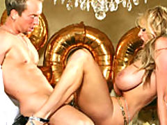 Mature Busty Movies, Kelly and her husband don't kiss for New Year's Eve they fuck on the dinning room table.