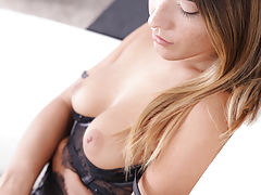 Kink, Freckled beauty Eva Lovia dresses in lacy lingerie to seduce her man into a wild fuckfest in her landing strip pussy