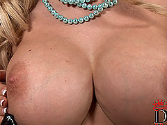 Busty Girls Movies, Busty blonde Caylian Curtis playing with her pussy
