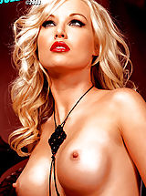 Hard Nipples, Kayden Kross in the sexiest Photo shoot ever! Red lips & black stockings, mmmmm!