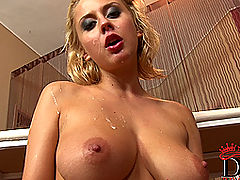 nice breasts, Busty blonde babe Mandy Dee gets licked & fucked