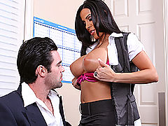 Bouncing Boobs, Brazzers Motivating The Boss