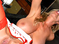 Asian Boobs, Kelly in her red thigh highs decides to slide a crystal dildo into her easy bake oven, nookie cookie time.