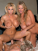 Busty Blonde, Kelly just wanted Holly to shut up so she tied her up and gaged her and had her husband stuff her pussy with his cock.