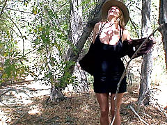 Wet Cunt videos, Kelly exposes her gigantic natural boobs on a nature walk and finds a guy to fuck outdoors.
