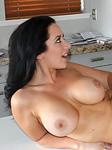 Naughty America, Busty brunette girl meet stranger and they have hot orgasmic sex with each other.