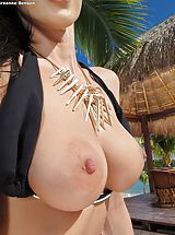 tits nice, Bare Sexy Adulteress 947 Breanne Benson shows those tremendous boobs