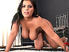 nice titis, Busty Jasmine Black's kinky masturbation with toy
