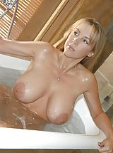 nice funbags, Houswife whith Super Huge Tits under the shower