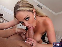 Big Ass, Busty blond Katie Kox celebrates her anniversary by fucking and sucking her husbands big dick.