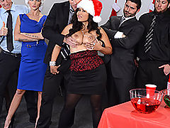 Hairy Pussy, Brazzers Free Office Christmas Celebration