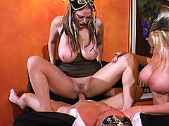 Busty Babes, Content of Jaime Brooks - My husband and I attended a masquerade party. It was great dressing up and wearing masks. The best part was having a sexy stranger join us downstairs for a little crazed, masked sex adventure...