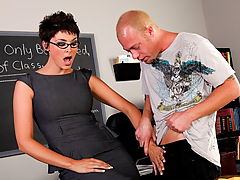 Group Sex, Charlie James & Jenner as Sexy Teacher