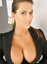Busty Gallery, Immense Boobs Boss, Taking Orders