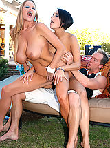 Kelly Madison and Dylan Ryder went to a bbq and stuffed themselves with cock not hot dogs.