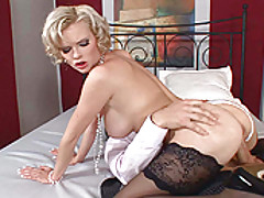 Busty Babes, Busty blond babe Tarra White in hot anal hardcore scene